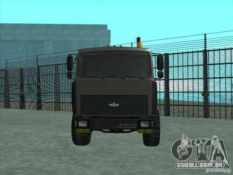 Manipulador MAZ 6317 para GTA San Andreas esquerda vista