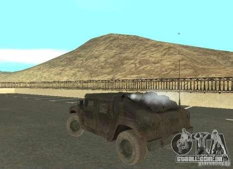 Hummer Cav 033 para GTA San Andreas vista direita