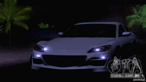 Mazda RX8 R3 2011 para GTA San Andreas vista interior