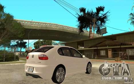 Seat Leon Cupra - Stock para GTA San Andreas vista direita