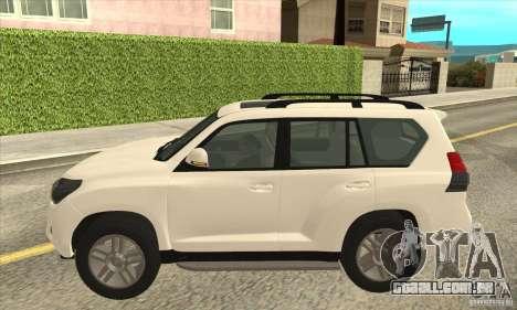 Toyota Land Cruiser Prado 150 para GTA San Andreas esquerda vista