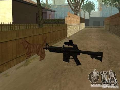 Gato silenciador na M4 em vez disso para GTA San Andreas