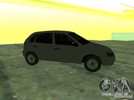 LADA 1119 Hatchback Kalina para GTA San Andreas traseira esquerda vista