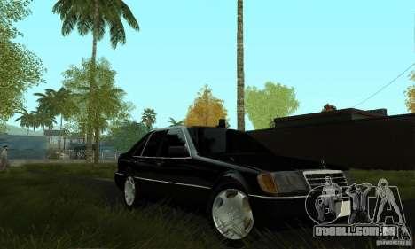 Mercedes-Benz 400 SE w140 Deputat Style para GTA San Andreas vista direita