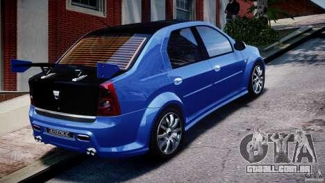 Dacia Logan 2008 [Tuned] para GTA 4 vista superior