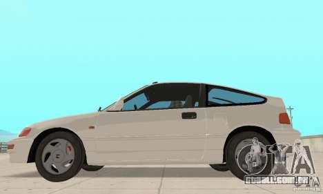 HONDA CRX II 1989-92 para GTA San Andreas esquerda vista