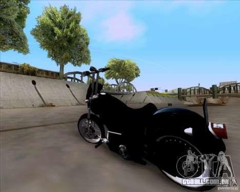 Harley Davidson FXD Super Glide para GTA San Andreas esquerda vista