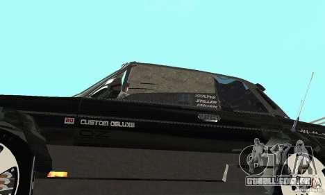 Tunning de fantasia arte VAZ 2106 para GTA San Andreas vista interior
