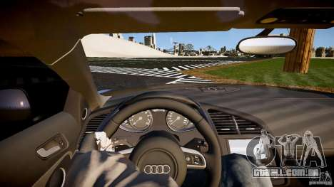 Audi R8 2008 para GTA 4 vista de volta