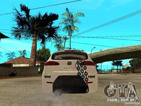 Seat Leon Cupra Bound Dynamic para GTA San Andreas traseira esquerda vista