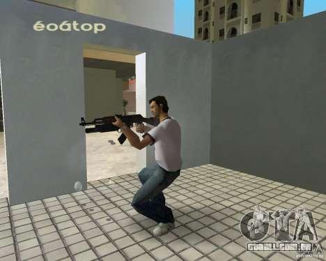 AK-47 com um М203 de lançador de Granada para GTA Vice City segunda tela