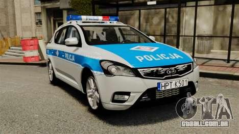 Kia Ceed 2011 SW Polish Police ELS para GTA 4