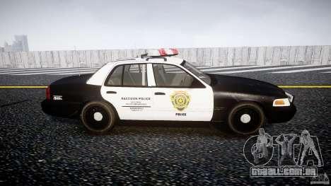Ford Crown Victoria Raccoon City Police Car para GTA 4 vista interior