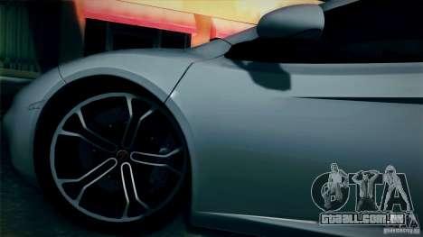 McLaren MP4-12C 2012 para GTA San Andreas vista traseira