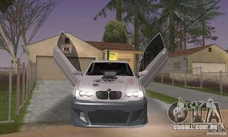 BMW M3 Hamman Street Race para GTA San Andreas vista traseira