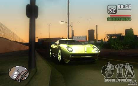 Lamborghini Miura Concept para GTA San Andreas vista traseira