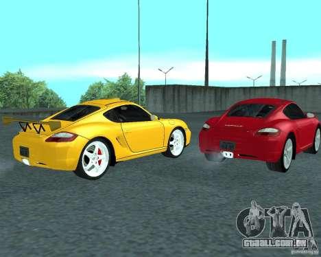 Porsche Cayman S para GTA San Andreas vista direita