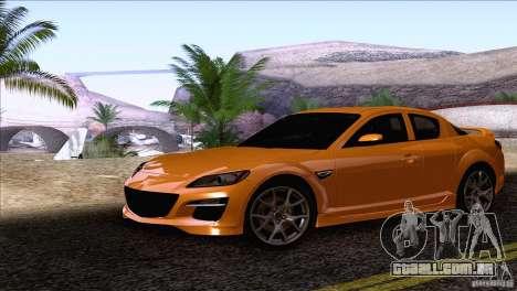 Mazda RX8 R3 2011 para GTA San Andreas traseira esquerda vista