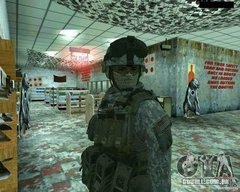 Soldado de infantaria pele CoD MW 2 para GTA San Andreas