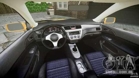 Mitsubishi Lancer Evolution VIII para GTA 4 vista interior