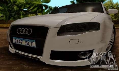 Audi RS4 2007 para GTA San Andreas vista direita