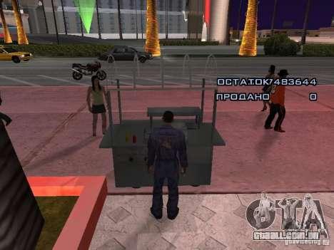 Vendedor de cachorro-quente para GTA San Andreas terceira tela