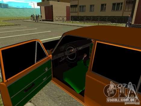 VAZ 2102 para GTA San Andreas vista traseira