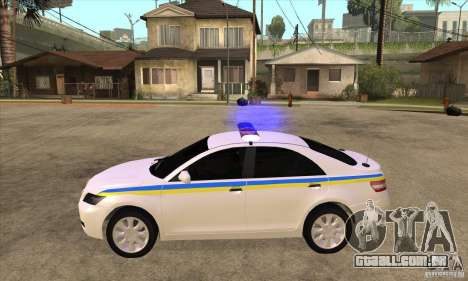 Toyota Camry 2010 SE Police UKR para GTA San Andreas esquerda vista
