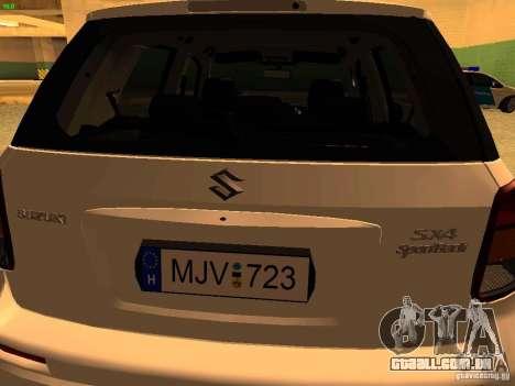 Suzuki SX-4 Hungary Police para GTA San Andreas vista interior