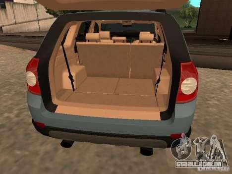 Chevrolet Captiva para GTA San Andreas vista traseira
