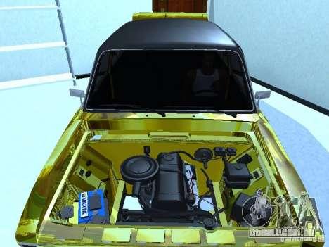 VAZ 2106 (ouro) para GTA San Andreas traseira esquerda vista