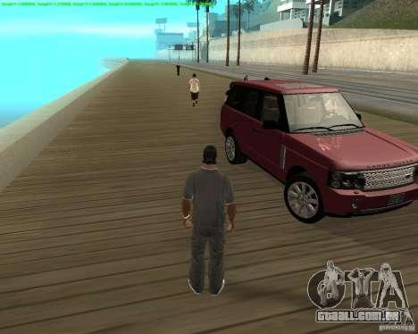 A roda tornou-se quando sair de um carro para GTA San Andreas terceira tela