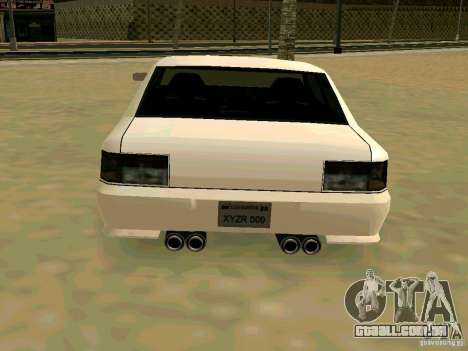 New Sultan v1.0 para GTA San Andreas vista interior