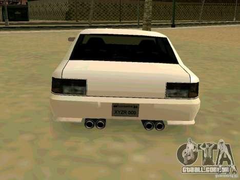 New Sultan v1.0 para GTA San Andreas vista interior