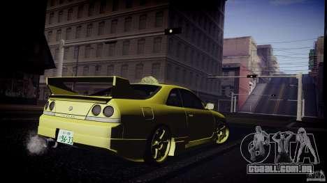 Nissan Skyline GTS R33 para GTA San Andreas vista traseira