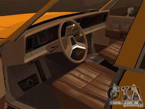 Chevrolet Caprice 1986 Taxi para GTA San Andreas vista traseira