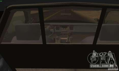 Ford Crown Victoria Alaska Police para GTA San Andreas traseira esquerda vista
