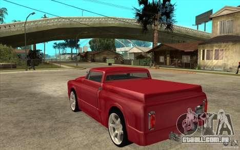 Slamvan Custom para GTA San Andreas traseira esquerda vista