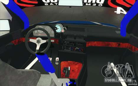 BMW E34 V8 para GTA San Andreas vista superior