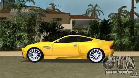 Aston Martin V12 Vanquish 6.0 i V12 48V v2.0 para GTA Vice City deixou vista