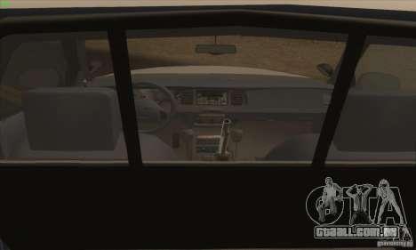Ford Crown Victoria California Police para GTA San Andreas traseira esquerda vista