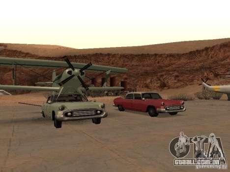 Carro-avião para GTA San Andreas esquerda vista