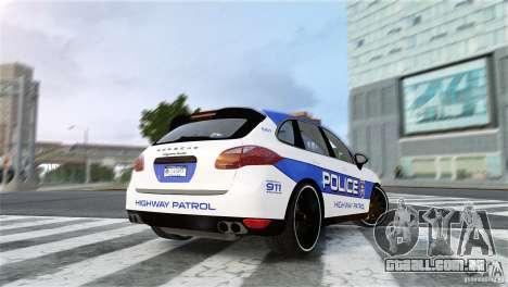 Porsche Cayenne Cop para GTA 4 esquerda vista