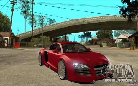 Audi R8 5.2 FSI custom para GTA San Andreas vista traseira