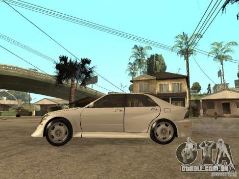 Lexus IS300 NFS Carbon para GTA San Andreas esquerda vista