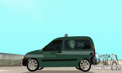 Renault Kangoo Straz Graniczna para GTA San Andreas vista direita