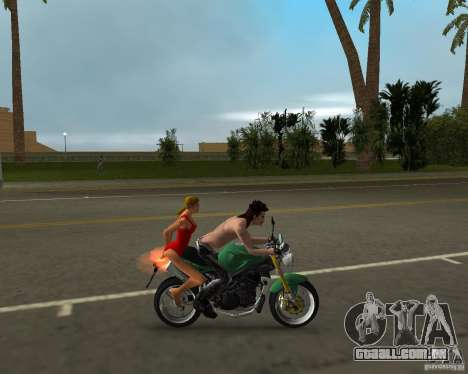 Triumph Speed Triple para GTA Vice City vista traseira esquerda
