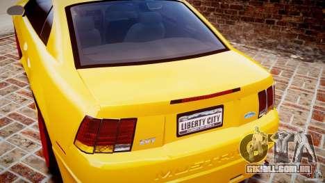 Ford Mustang SVT Cobra v1.0 para GTA 4 vista superior
