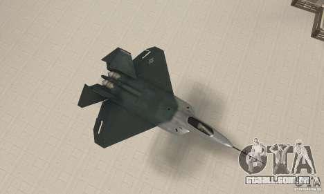 Y-f22 Lightning para GTA San Andreas vista direita