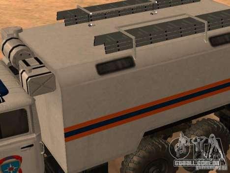 Ural 4320 MOE para GTA San Andreas vista direita